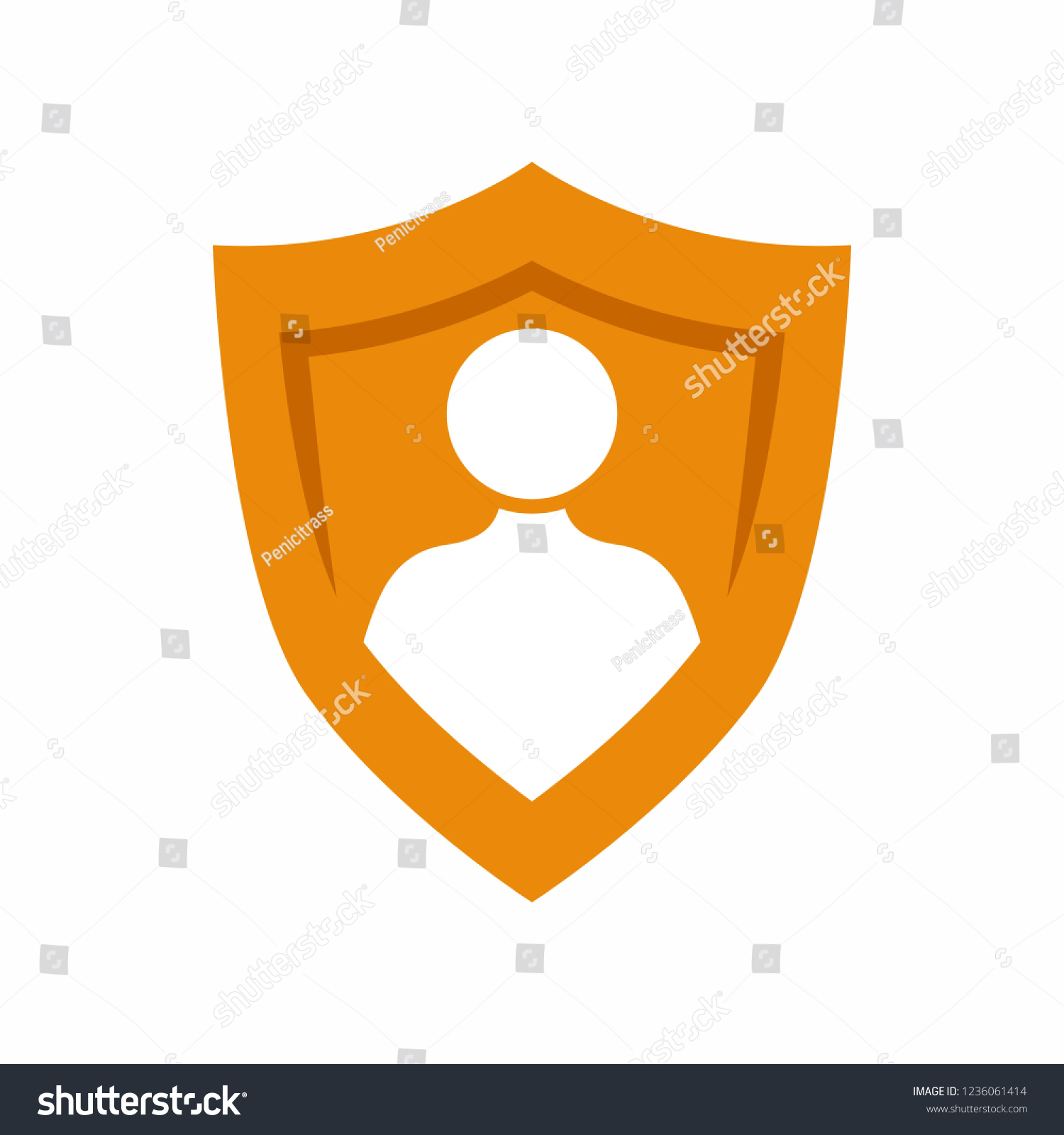 User Privacy Shield Guard Self Protection Stock Vector Royalty Free 1236061414
