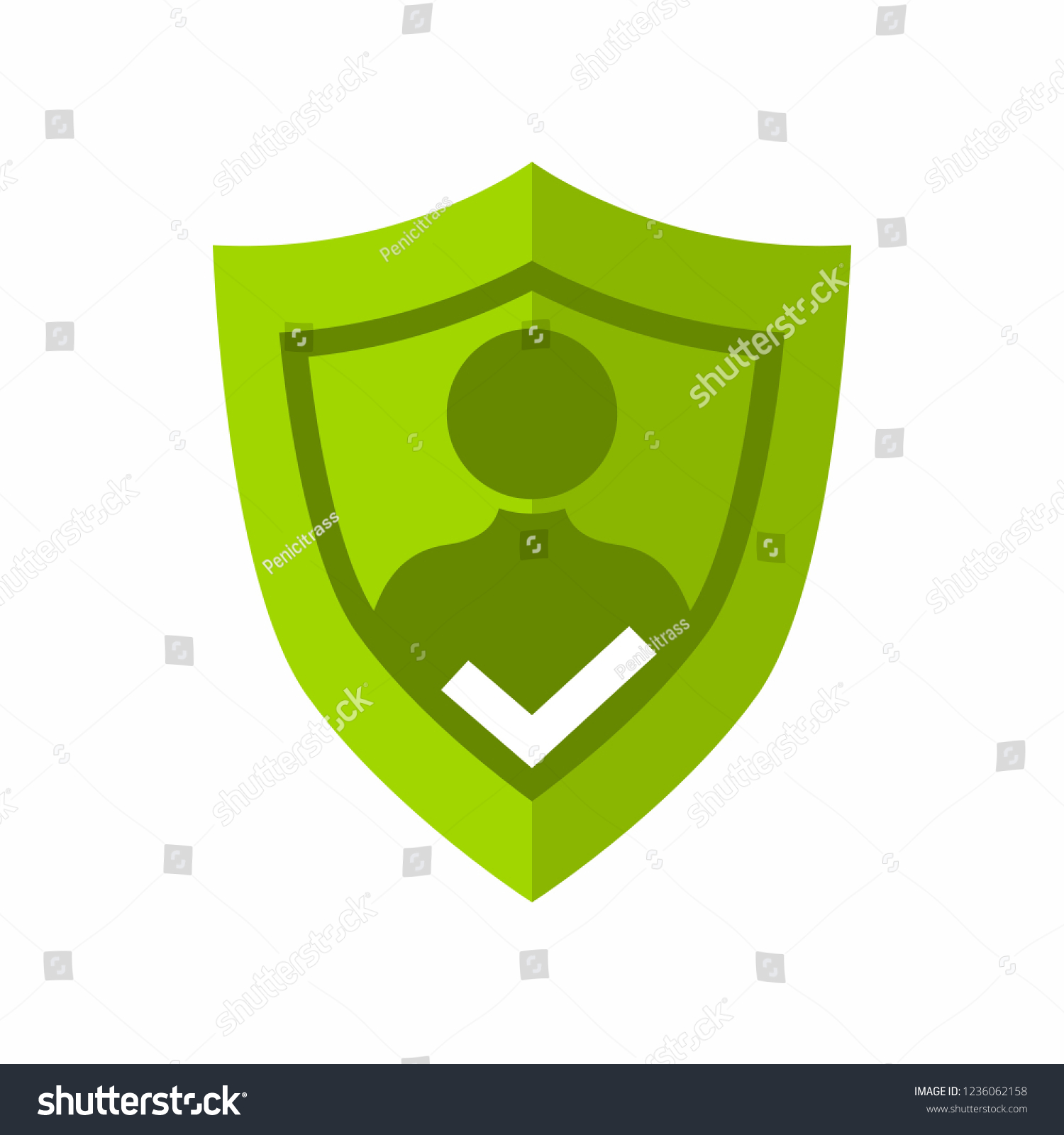 User Privacy Shield Guard Self Protection Stock Vector Royalty Free 1236062158