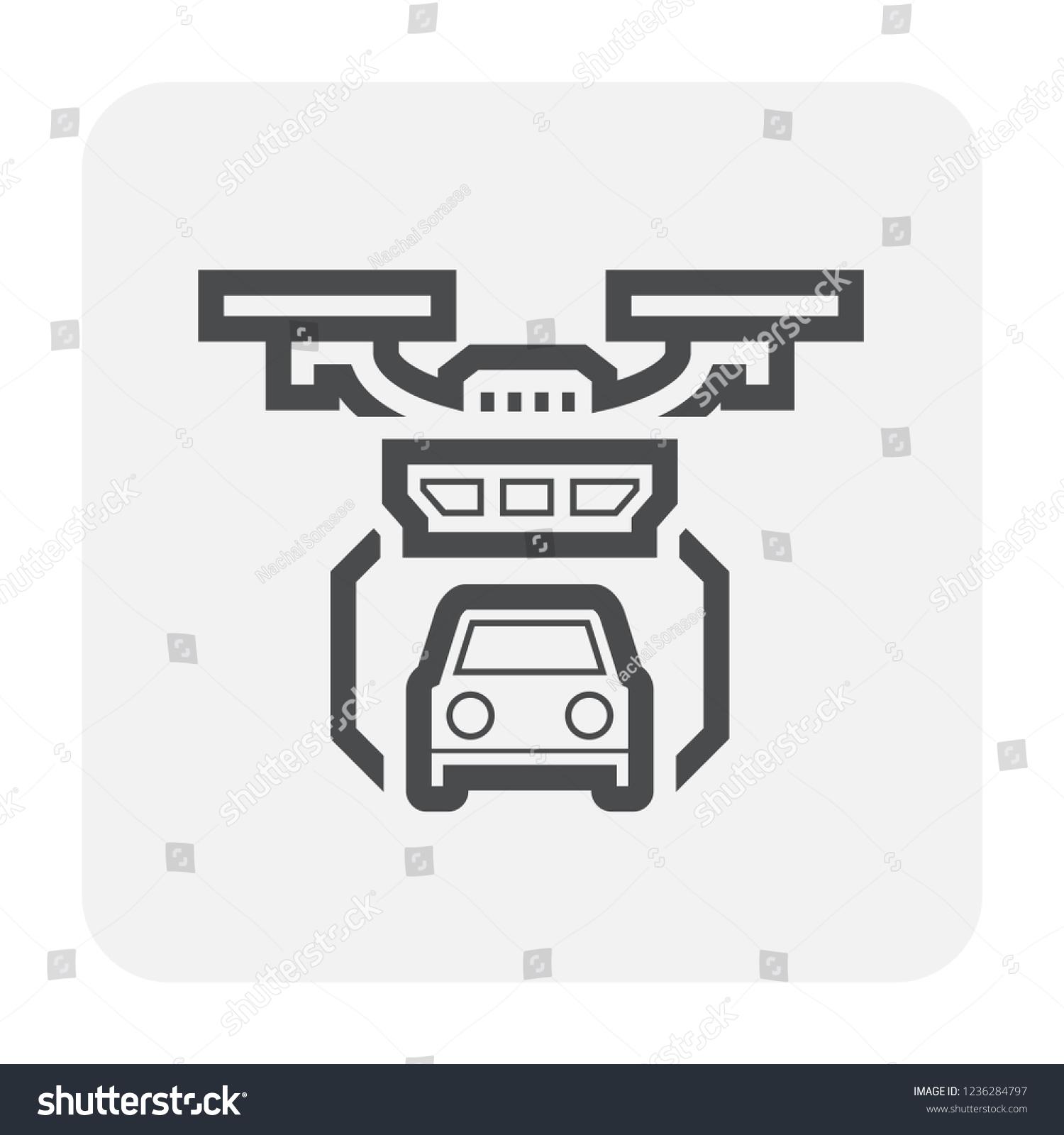 Drone Photography Equipment Icon Design Black Stock Vector