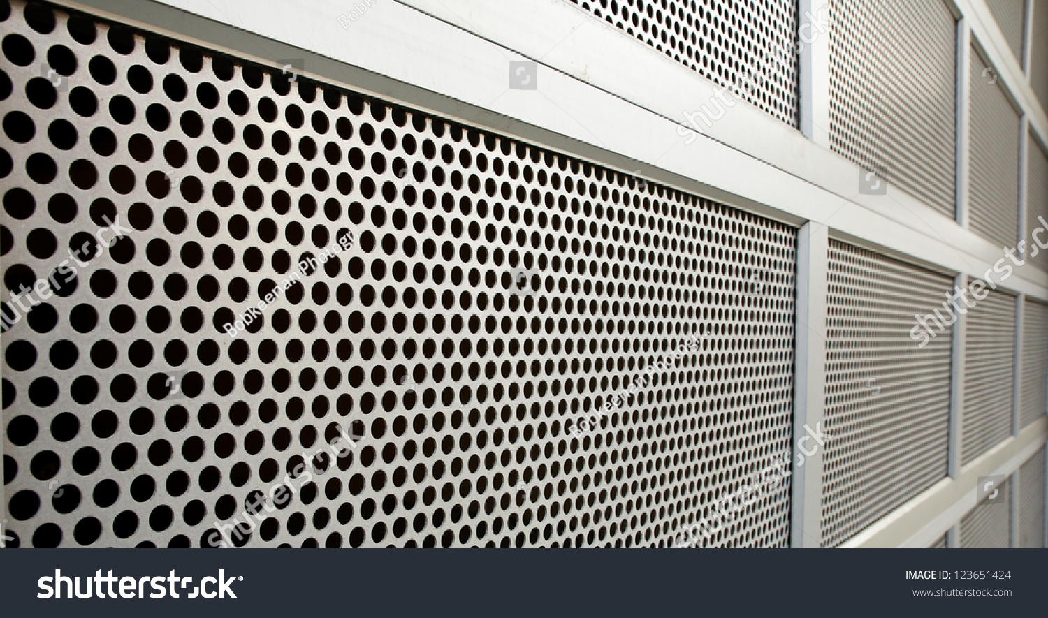 Perforated Steel Garage Security Door On Stock Photo Edit Now
