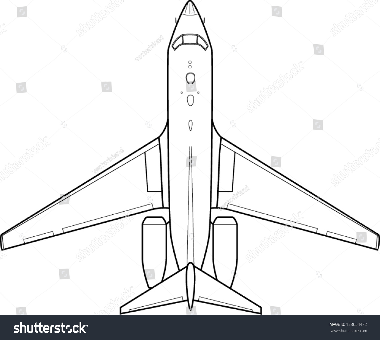 Line Drawing Airplane : Jet plane line art stock vector shutterstock