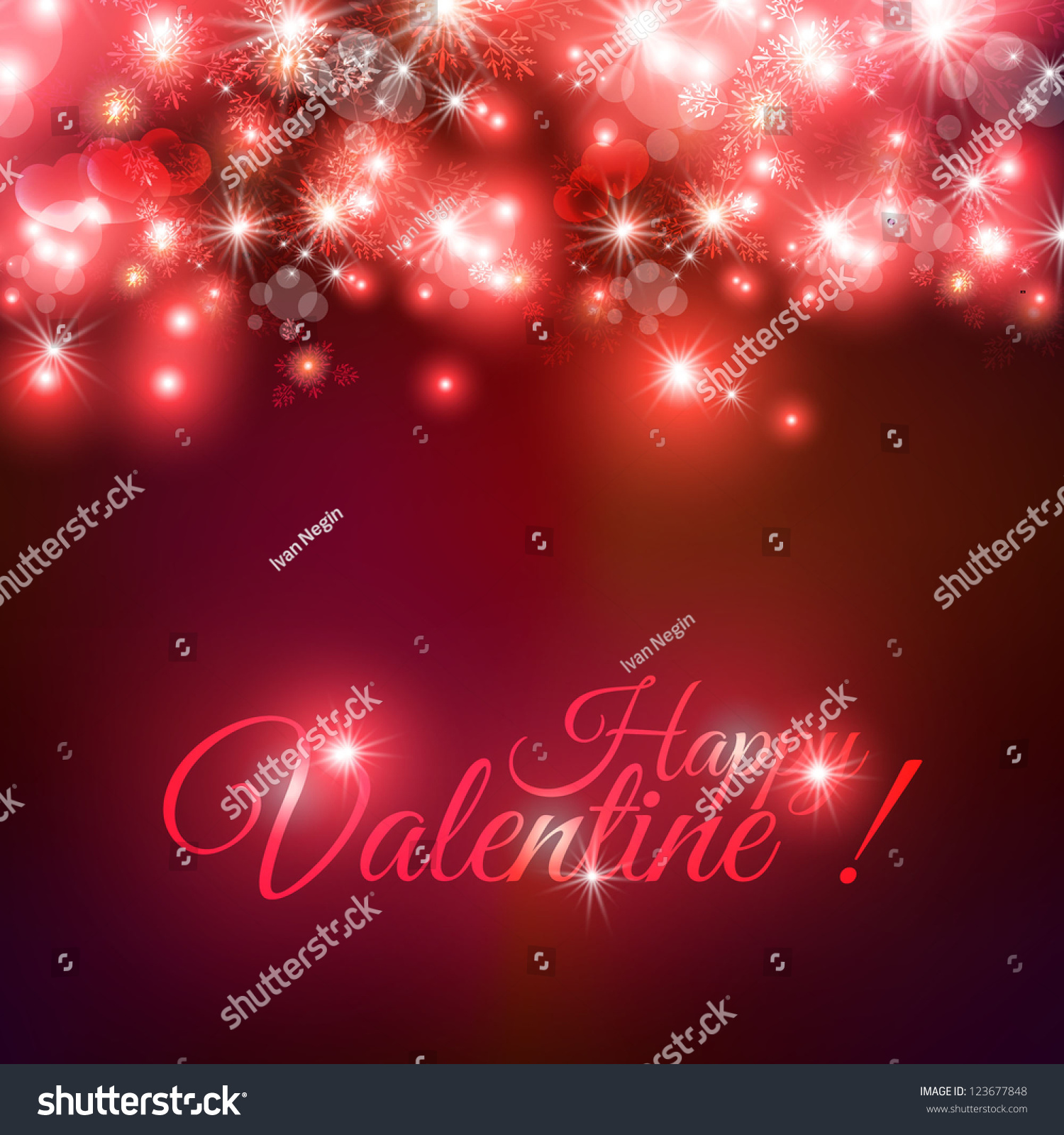 Valentine Wedding Card Invitation Abstract Floral Stock Vector ...