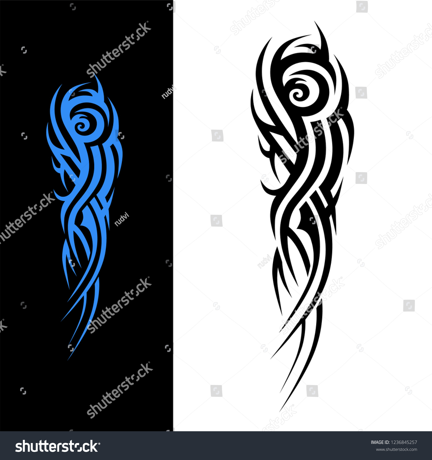 Tattoo Tribal Sleeve Design Vector Art Stock Vector Royalty Free 1236845257,Name Tattoos Designs On Arm For Men