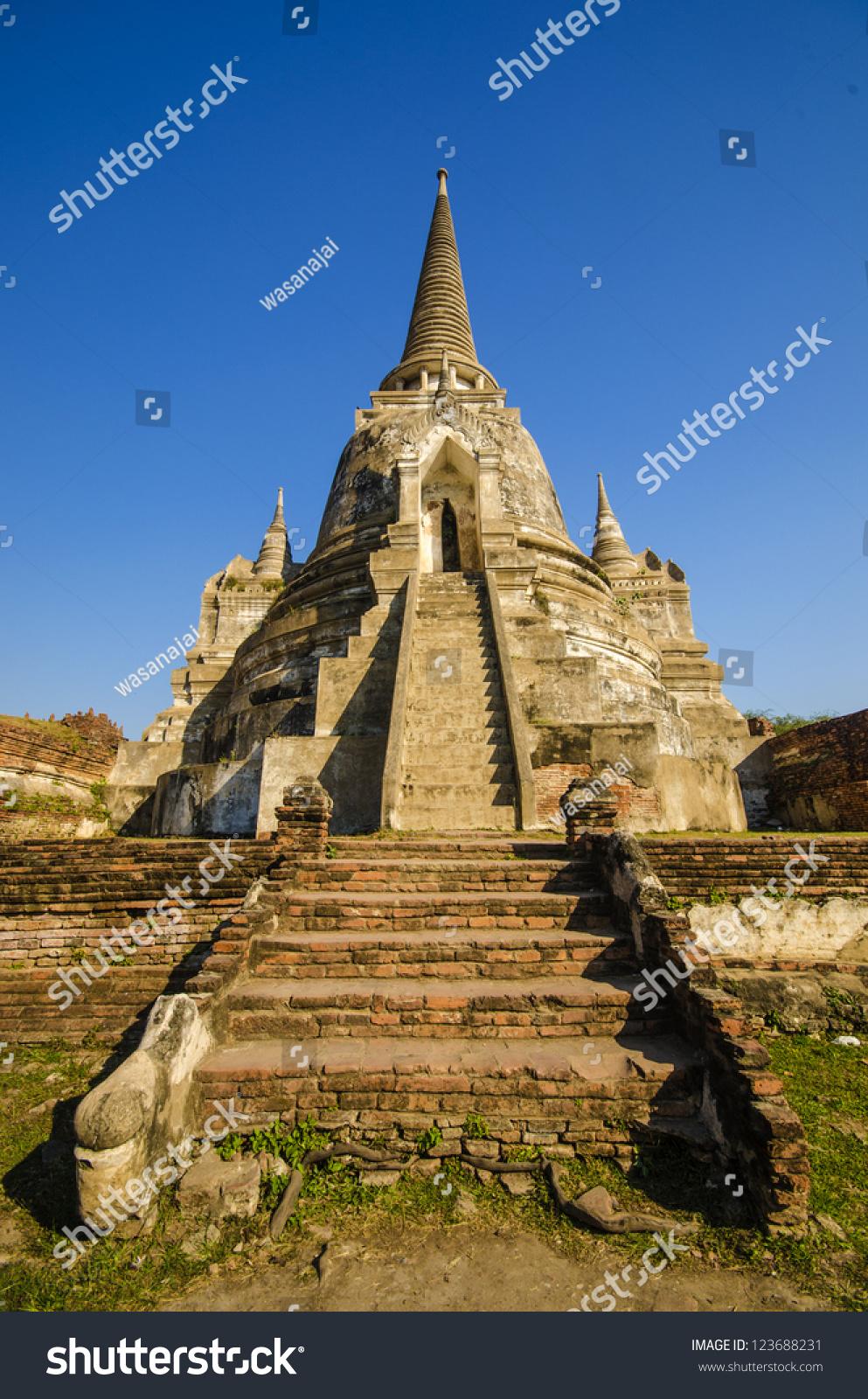 famous temple area wat phra si sanphet former capital of. Black Bedroom Furniture Sets. Home Design Ideas
