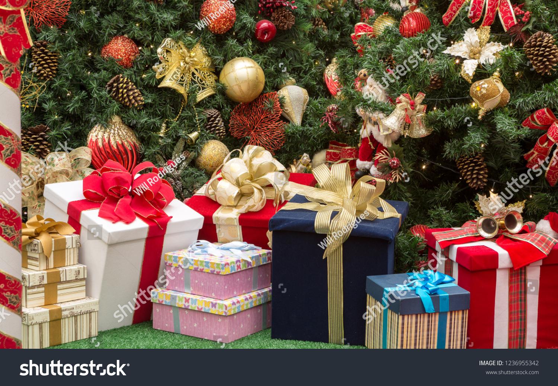 Christmas Decoration Gift Boxes Big Christmas Stock Photo Edit Now 1236955342