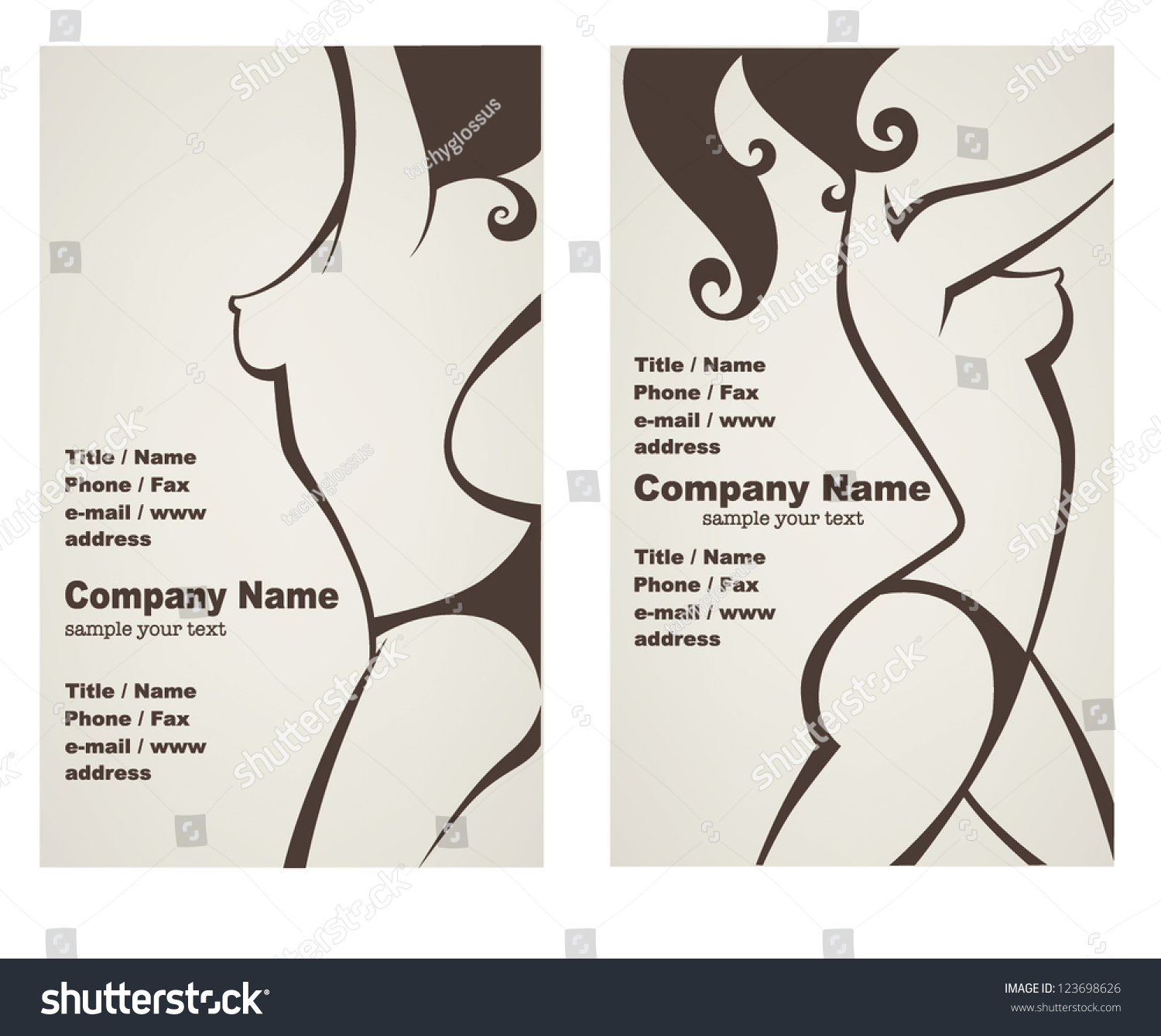 Vector Collection Business Cards Posters Beauty Stock Vector