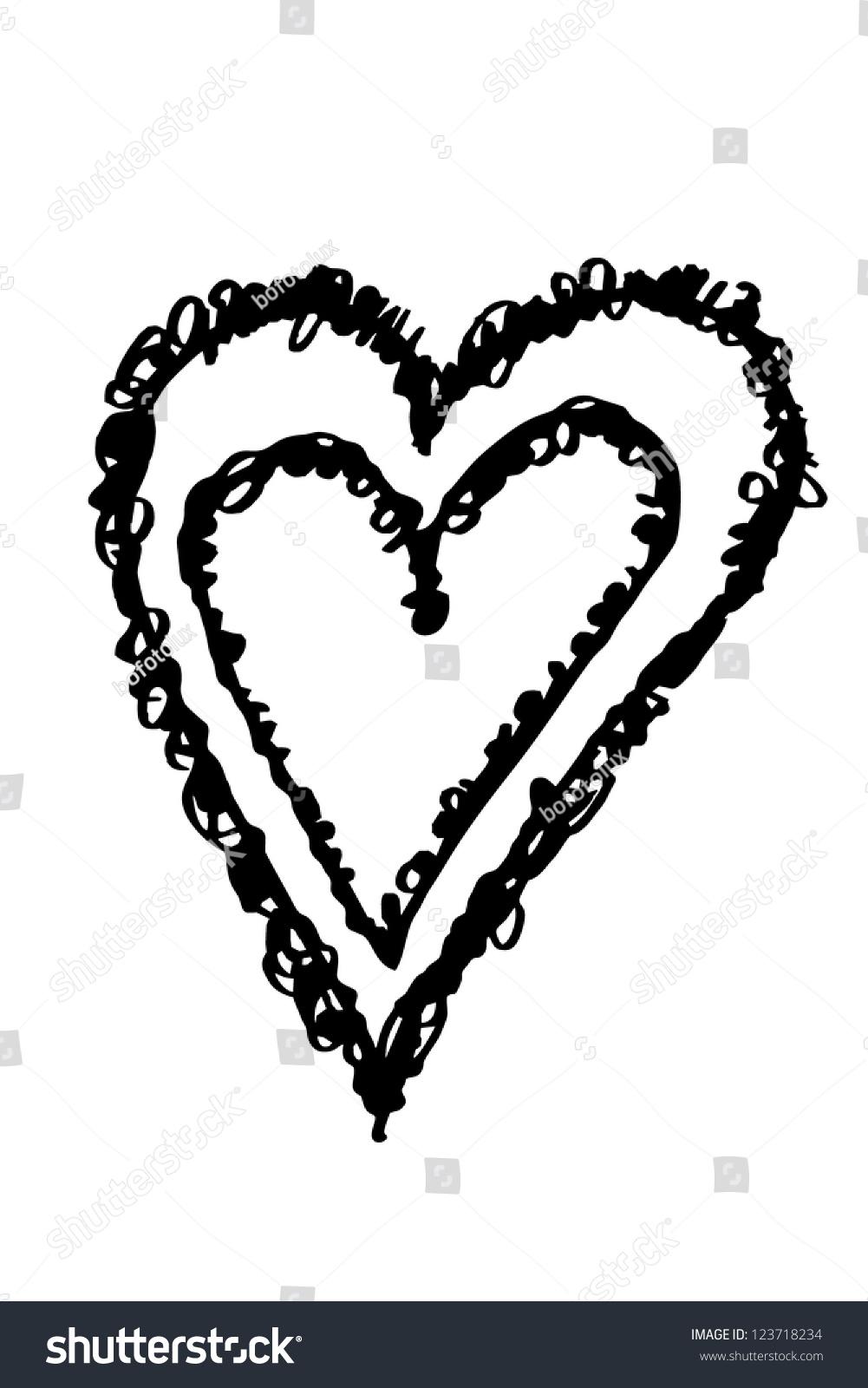 Double Heart Symbol Stock Illustration 123718234 Shutterstock