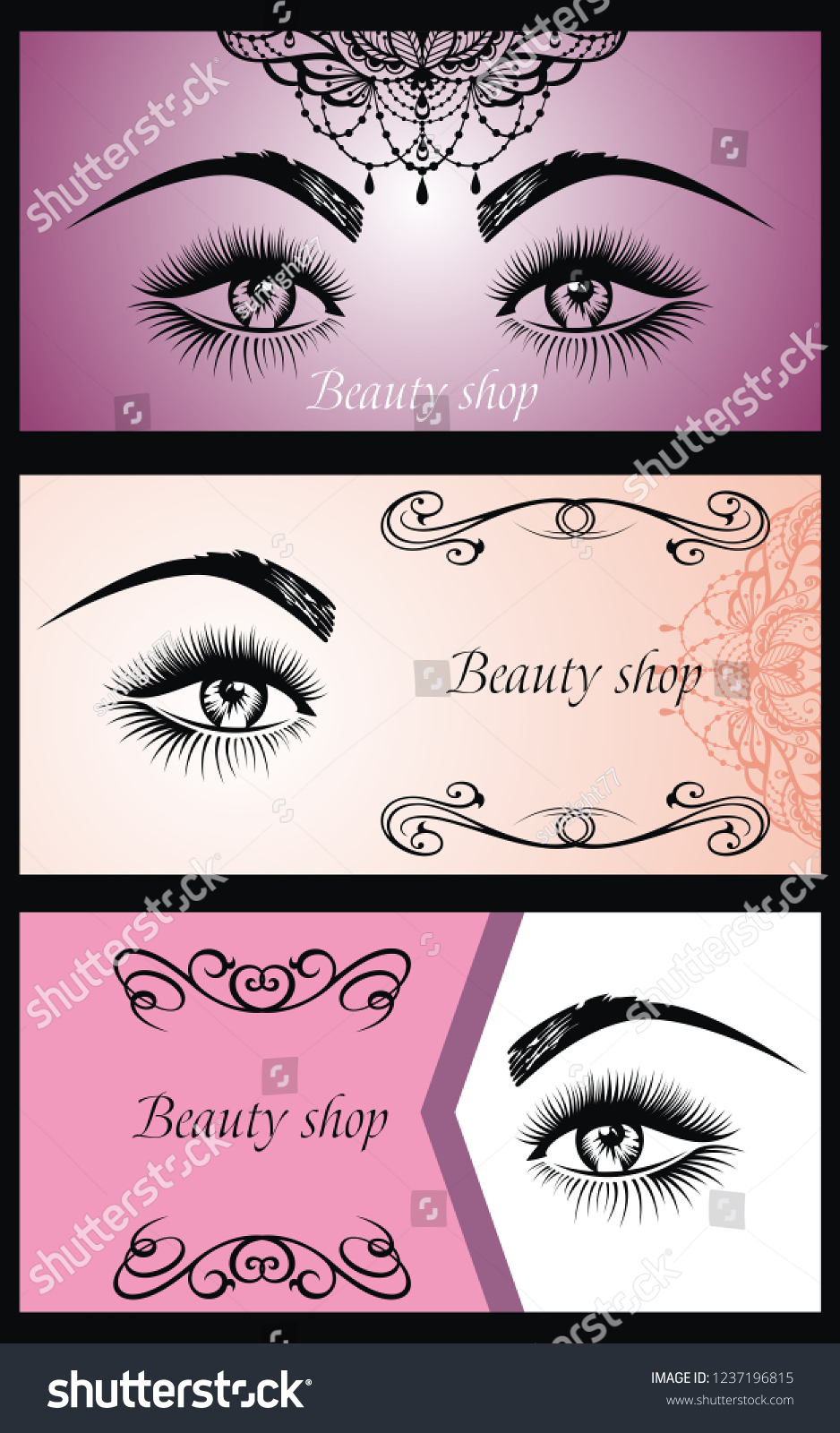 23d3327d519 Banners for beauty salon, face and skin care product, cosmetics, makeup or  spa
