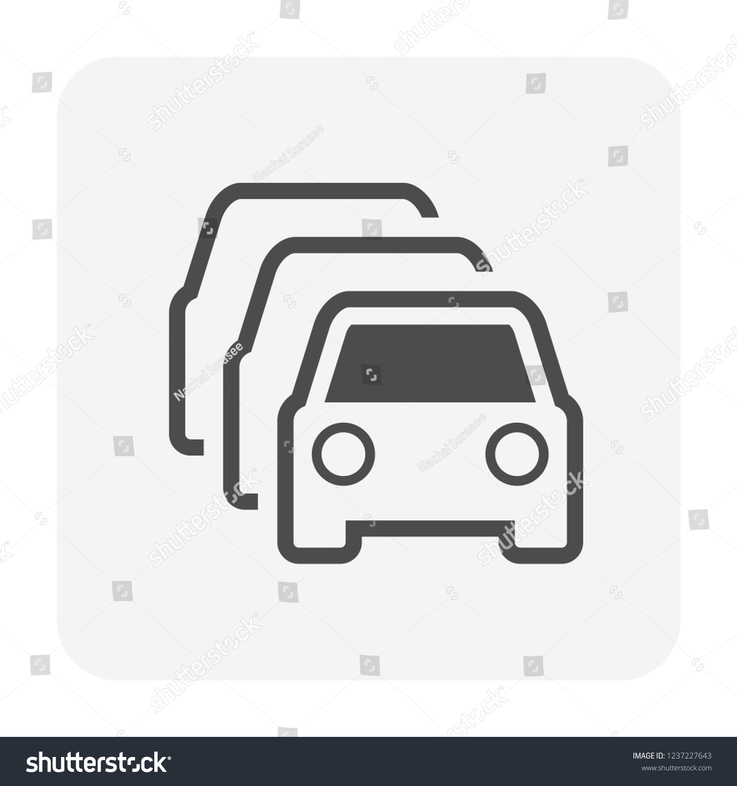 Used Car Dealership Icon Used Car Stock Vector Royalty Free