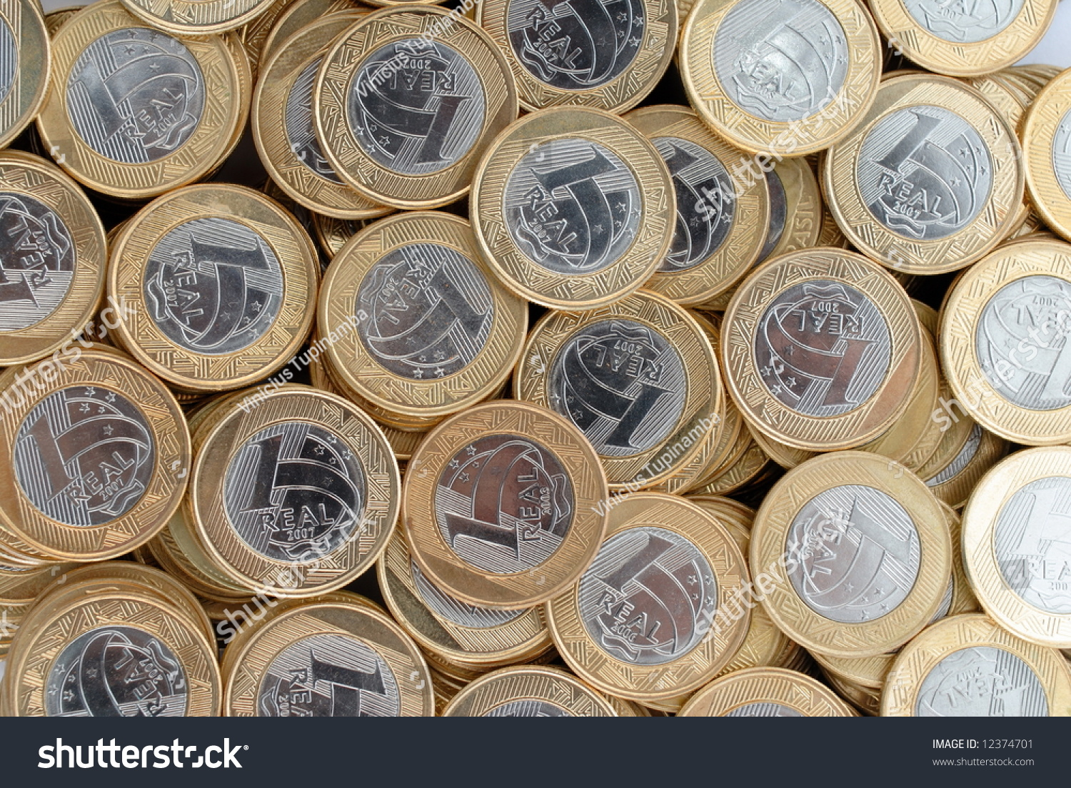Brazilian currency one real coins stock photo 12374701 shutterstock brazilian currency one real coins buycottarizona Images