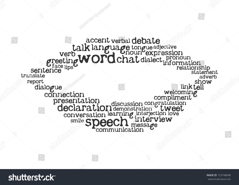 Word cloud speech concept stock vector royalty free 123748648 word cloud speech concept m4hsunfo