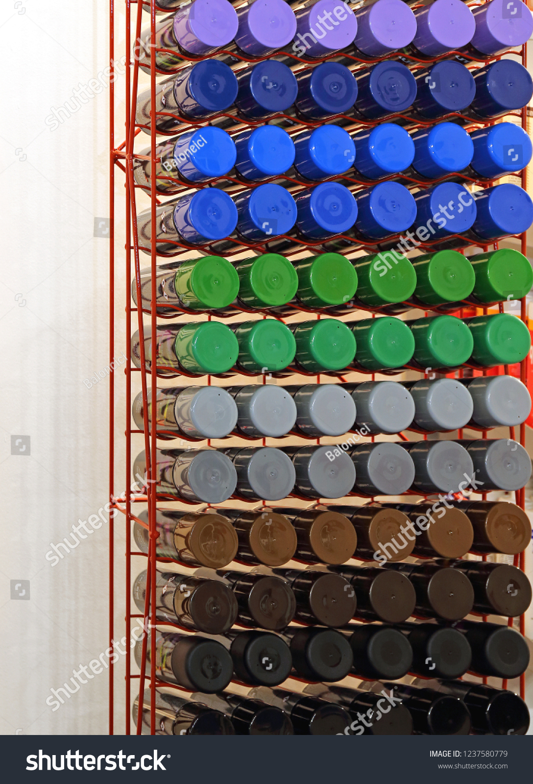 Cans Aerosol Spray Paint Many Colors Stockfoto Jetzt Bearbeiten