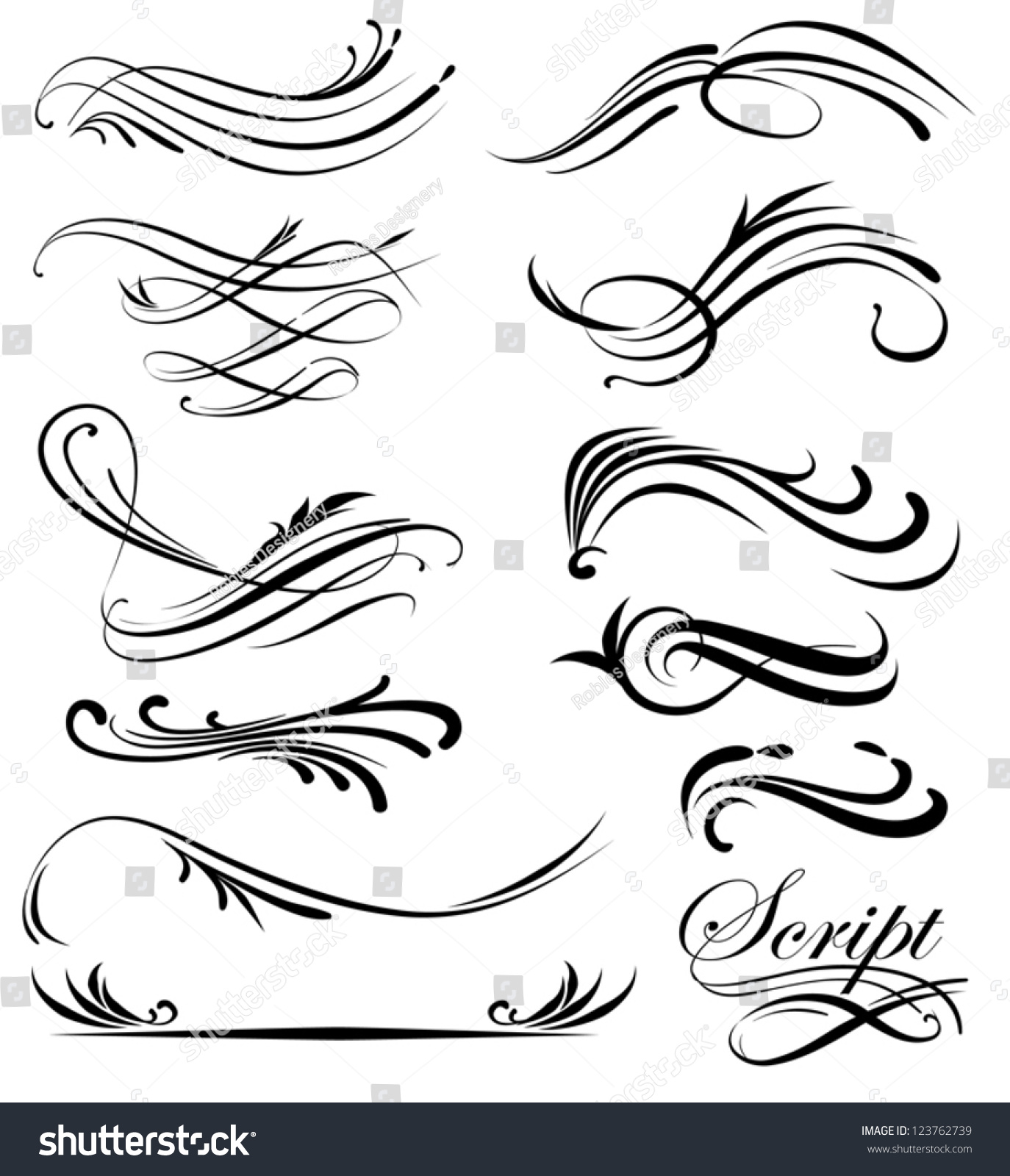 Line Art Vector : Decorative line art stock vector shutterstock
