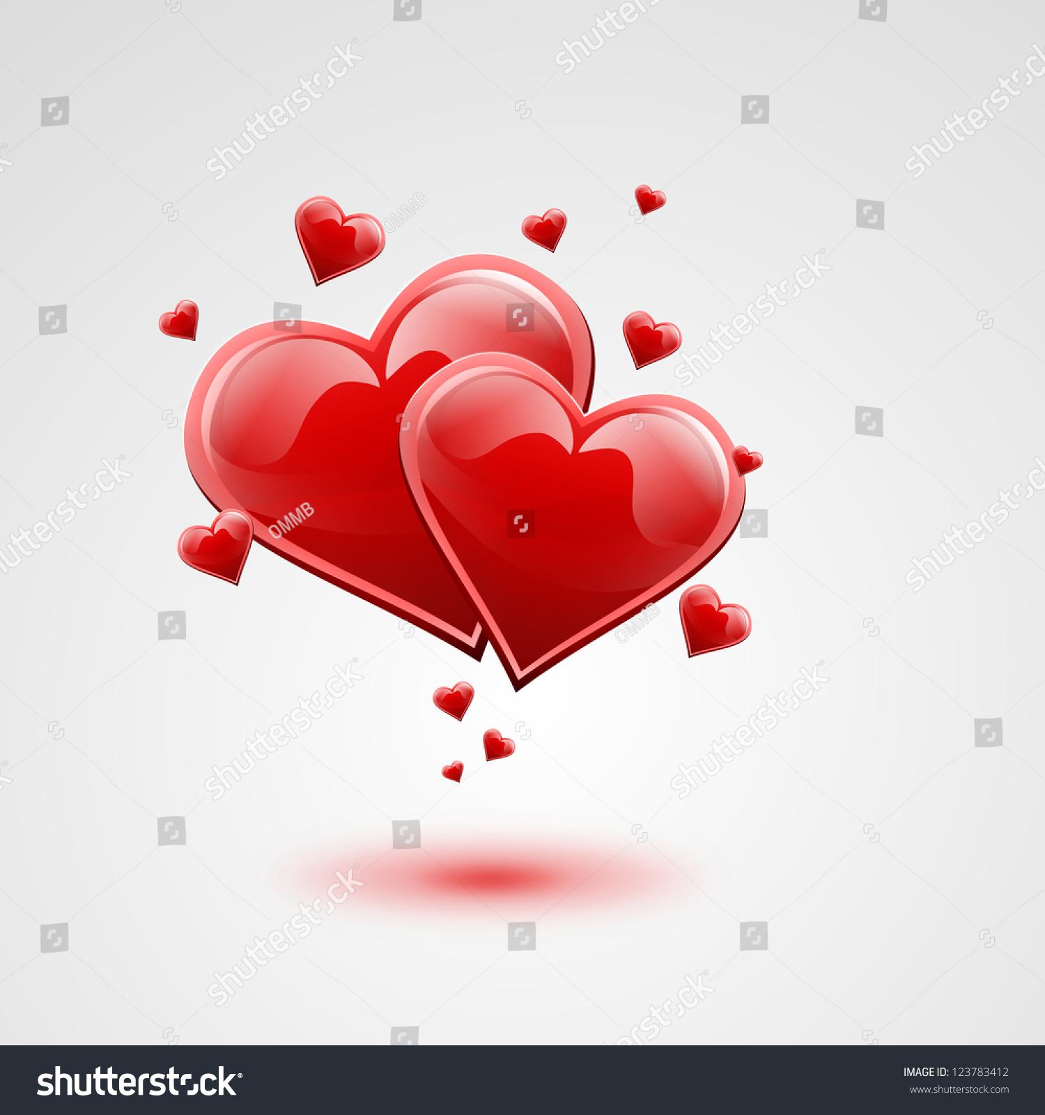 pair valentine hearts stock illustration 123783412 shutterstock