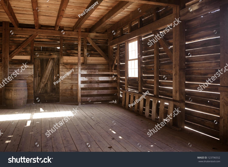 Interior Old Barn Stock Photo 123796552 - Shutterstock