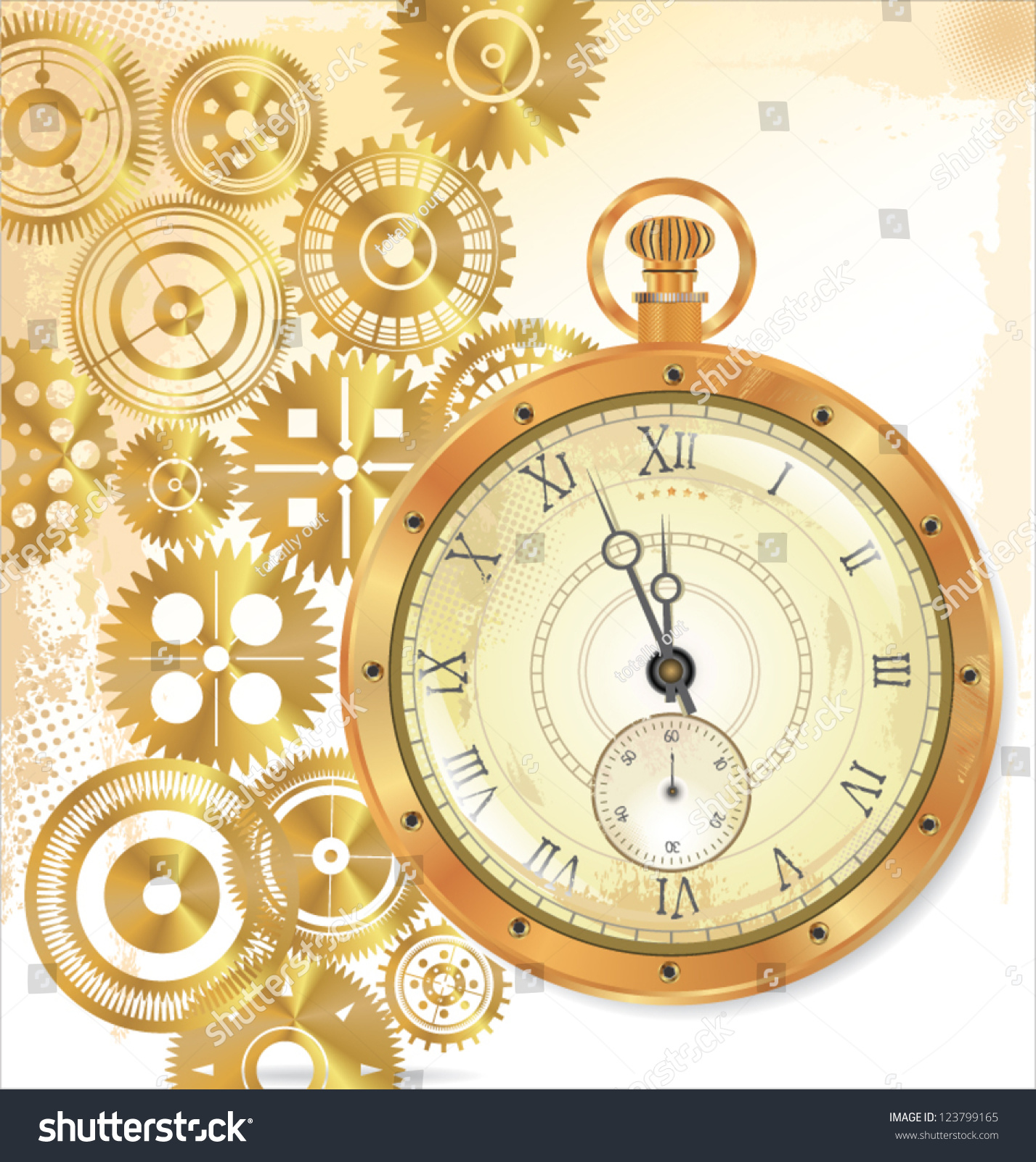 Old Watch Gears Motion Vector Illustration Stock Vector ...