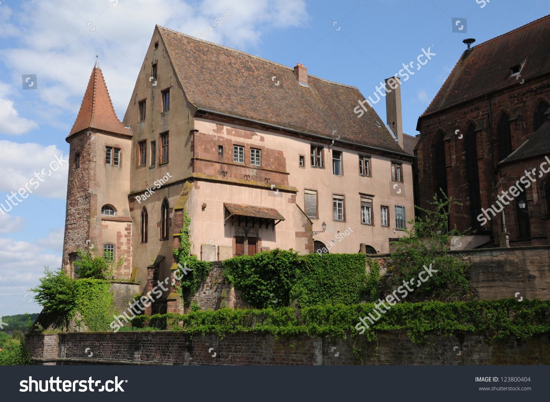 Architecte Bas Rhin france bas rhin old episcopal castle stock photo (edit now
