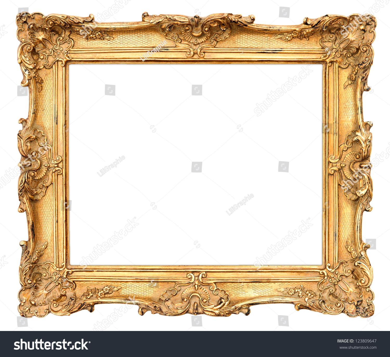 8646ac7b151d Old golden frame. beautiful vintage… Stock Photo 123809647 - Avopix.com