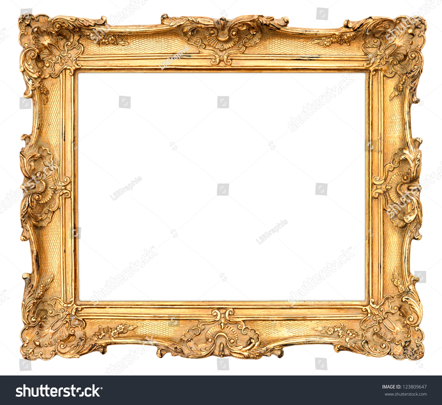 Old golden frame beautiful vintage background stock photo for How to make vintage frames