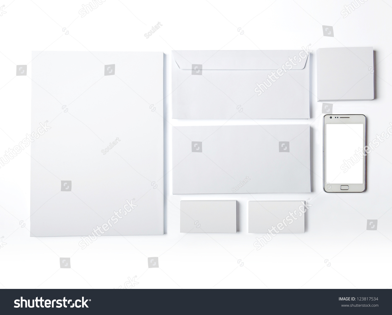Envelopes Business Card Folder Isolated On Stock Illustration ...
