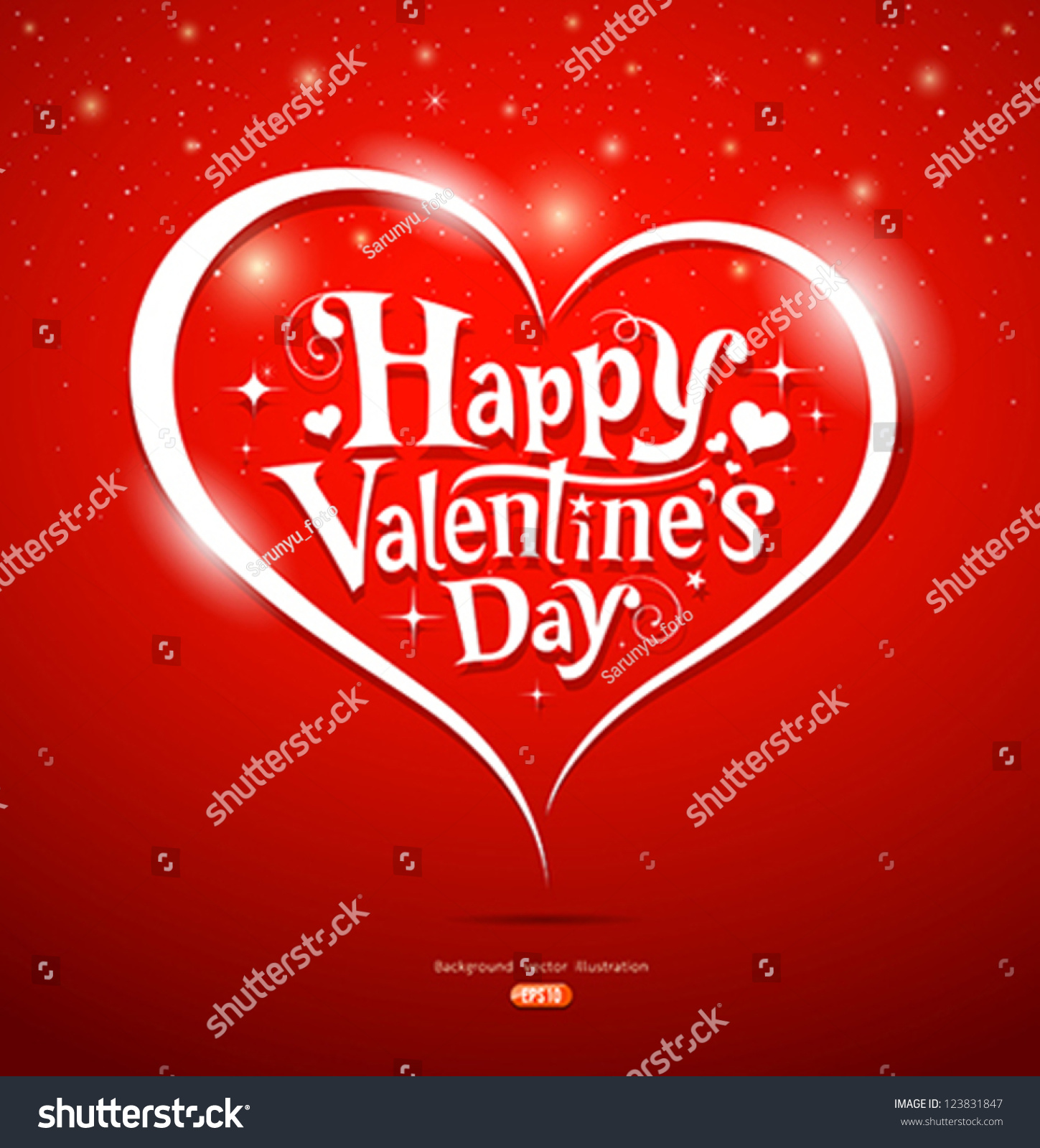 Happy Valentines Day Lettering Greeting Card Vector – Valentines Card Background