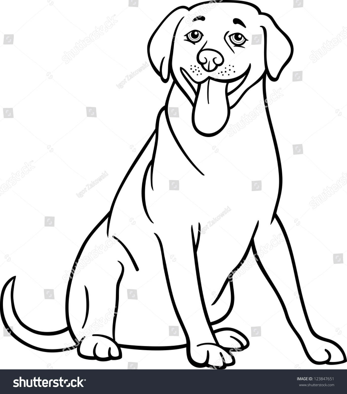 black coated retriever coloring pages - photo#35