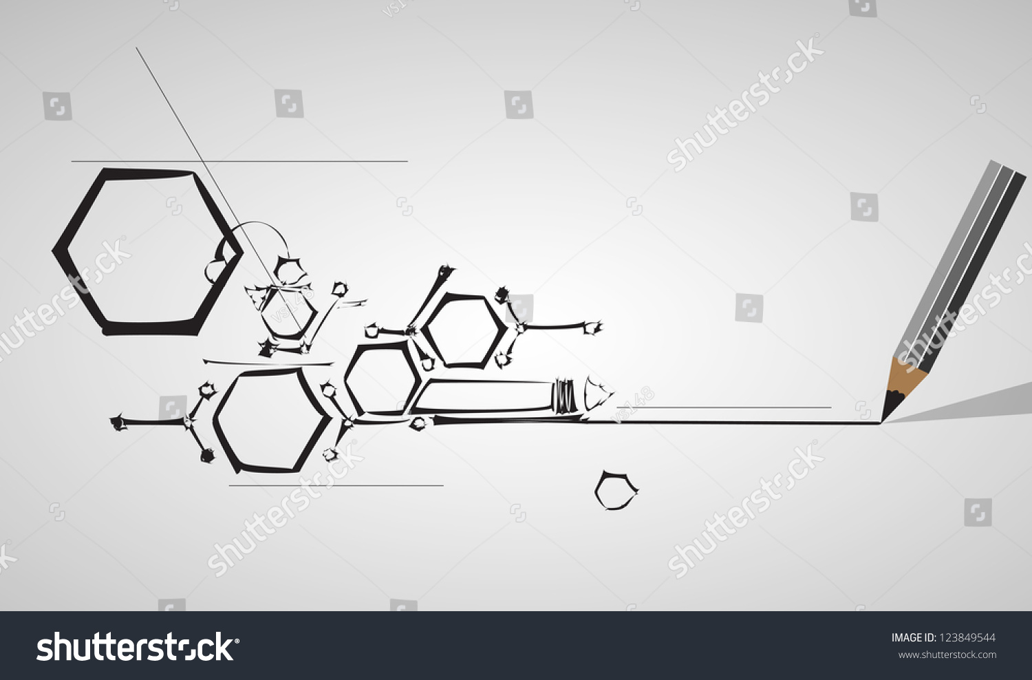 Abstract Drawing Computer Technology Business Background