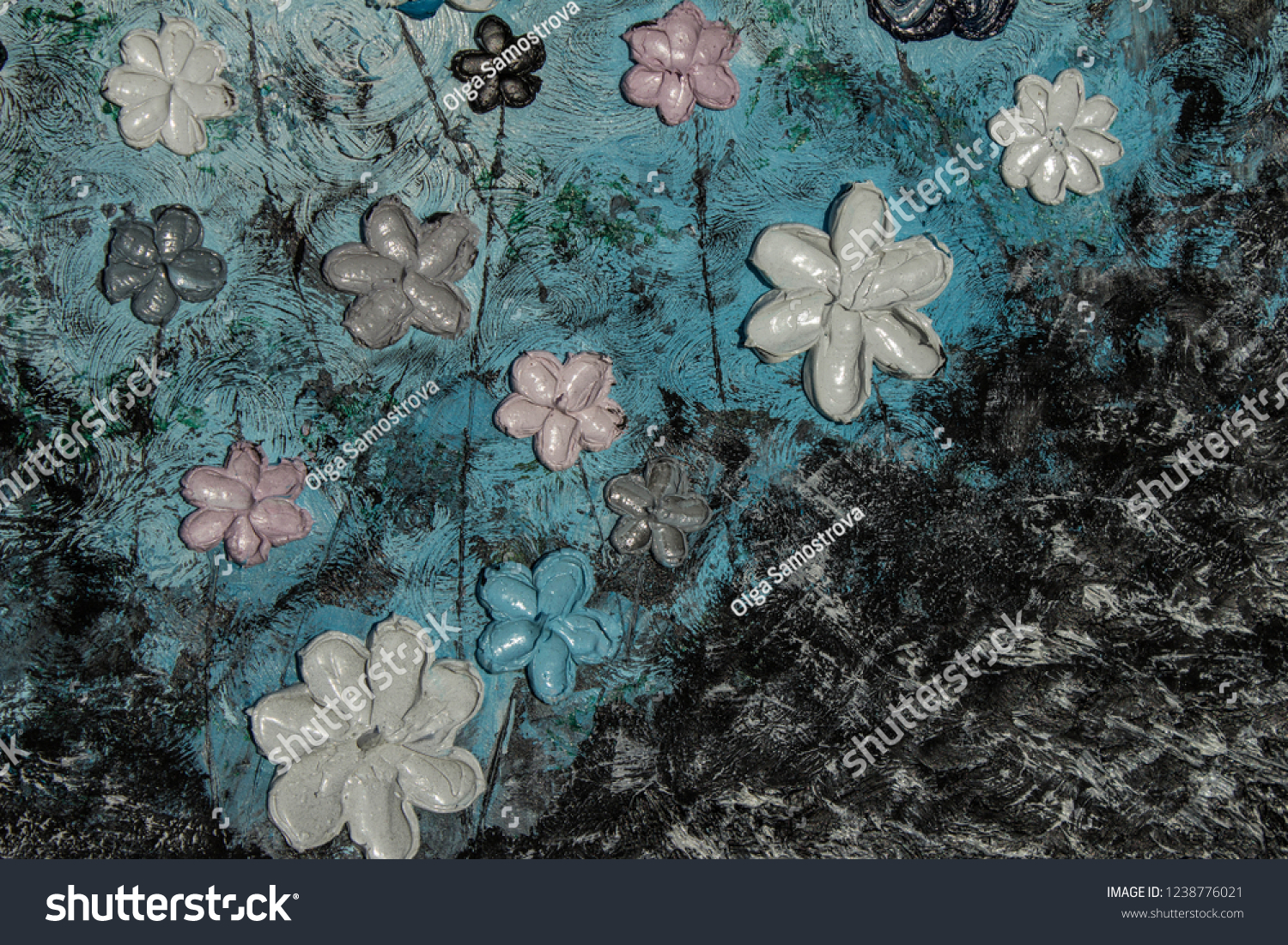 Art Oil Painting Picture 3 D Background Stock Photo (Edit Now