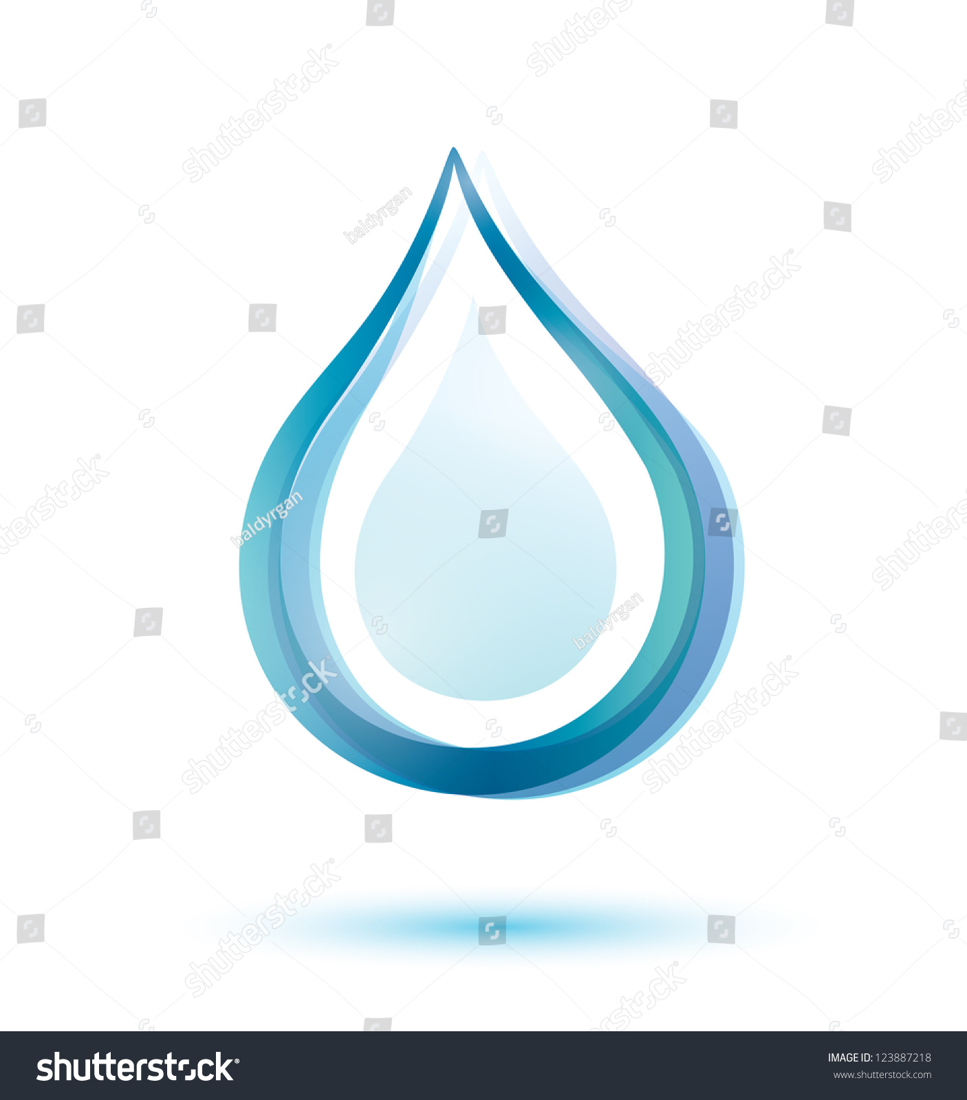 Water drop isolated vector symbol stock vector 123887218 water drop isolated vector symbol biocorpaavc Image collections