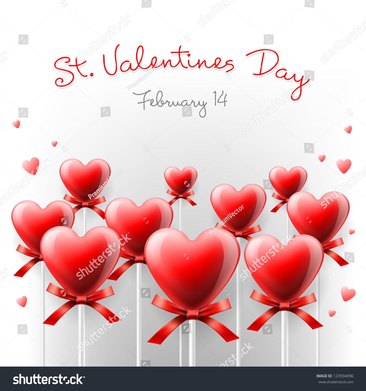 valentines day card with lollipops heart shaped - Valentine Lollipops