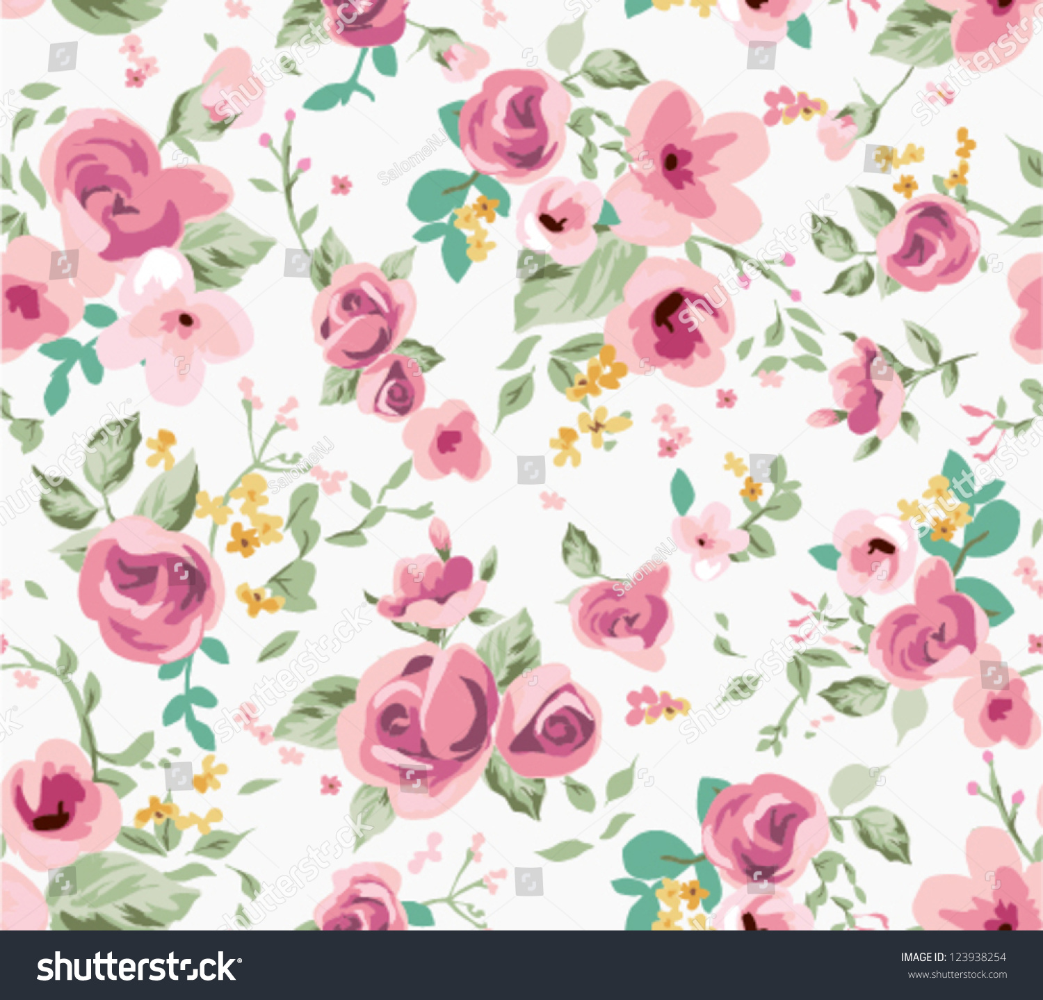 seamless spring cute tiny vintage floral stock vector