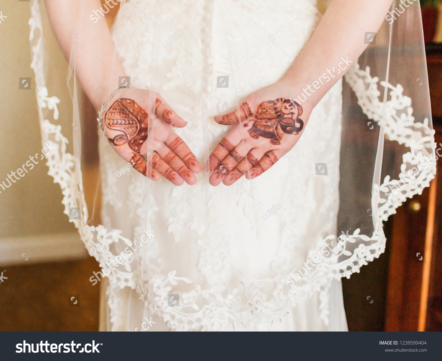 Hindu Bride White Dress Shows Her Stock Photo Edit Now 1239599404
