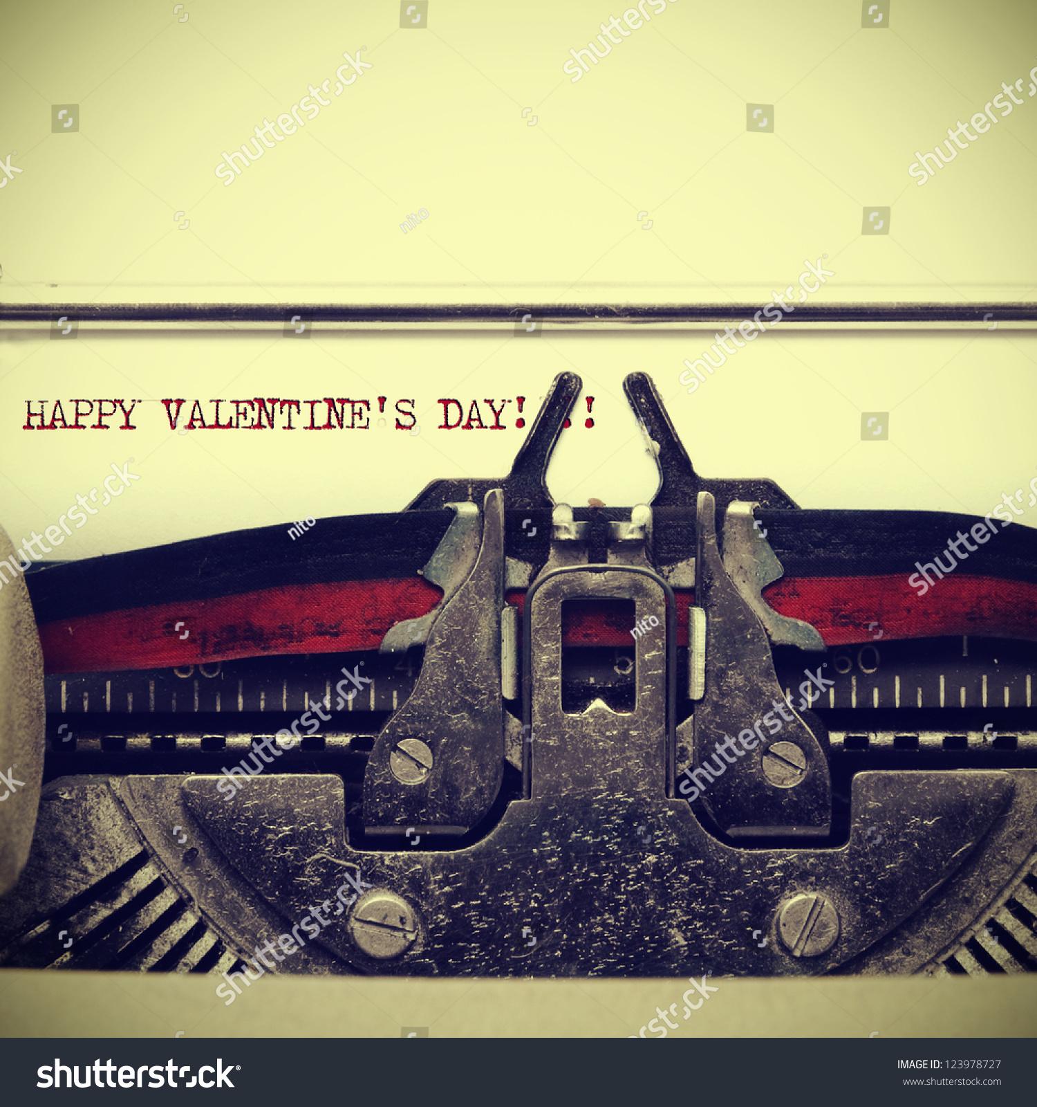 Sentence Happy Valentines Day Written On Stock Photo (Edit Now