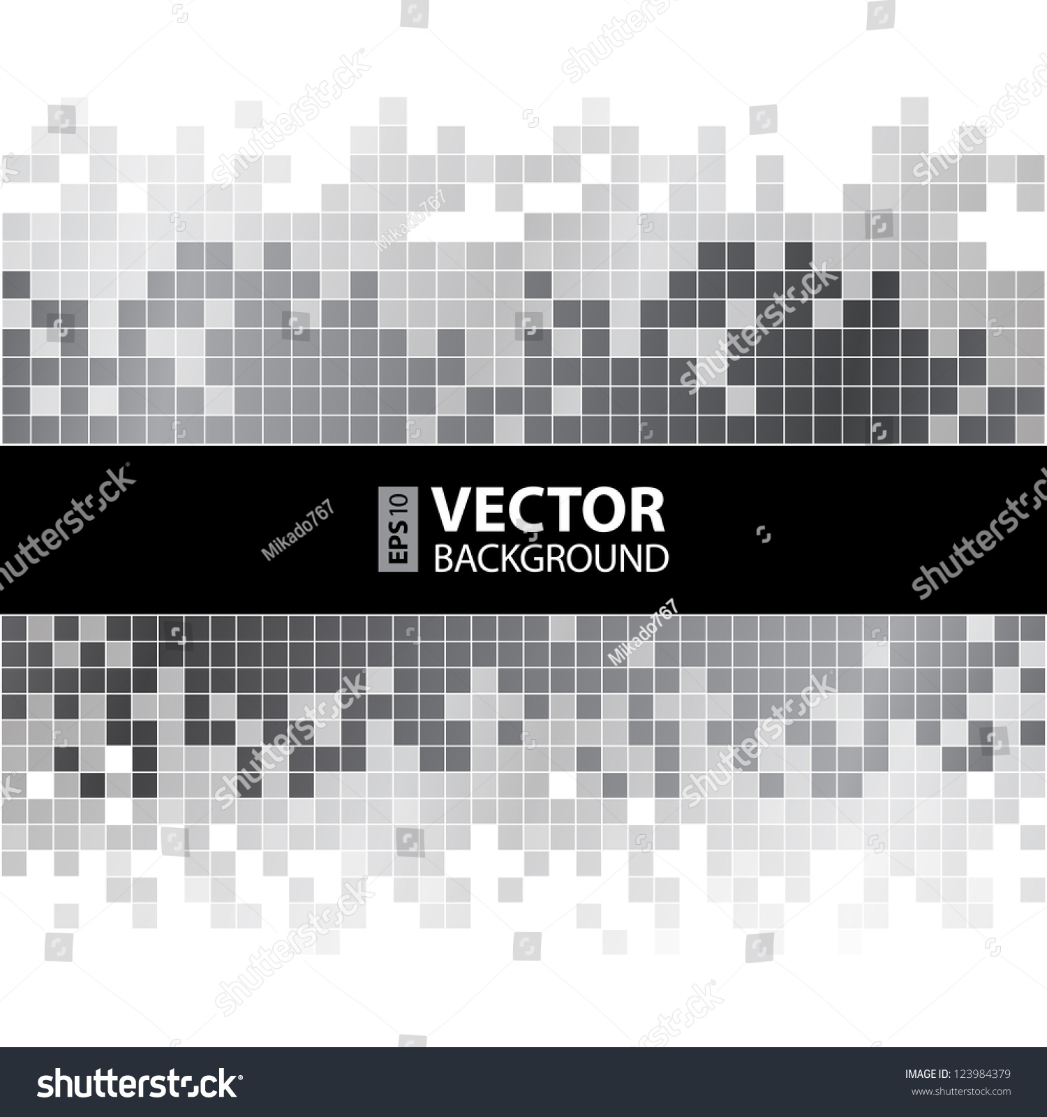 Abstract Digital Background With Grayscale Pixels