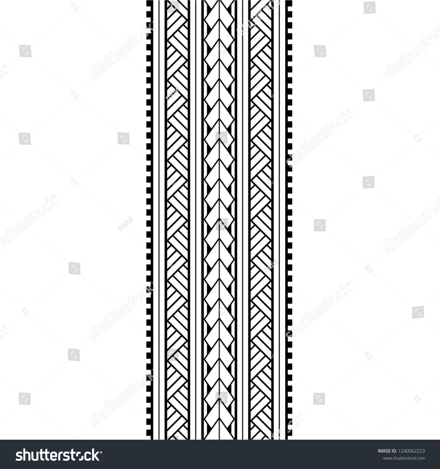 5ea5880ea Polynesian pattern tattoo for arm designs, tattoo lace border, samoan  forearm and leg design