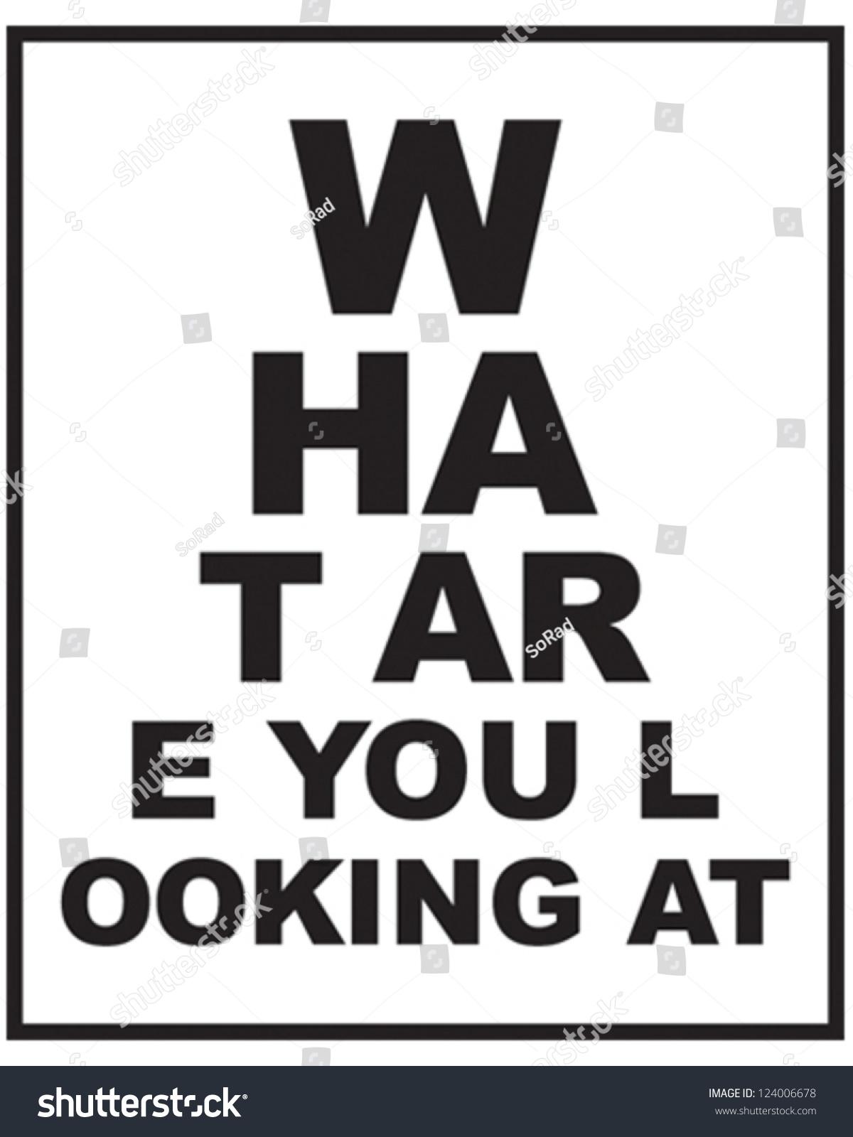 Eye sight chart stock vector 124006678 shutterstock eye sight chart nvjuhfo Images