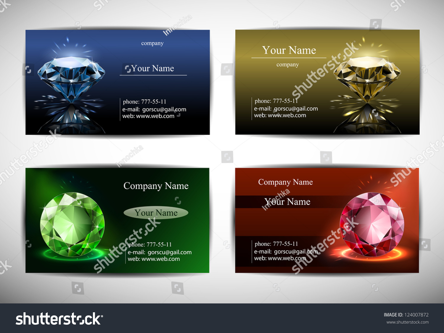 Business cards templates red blue yellow stock vector 124007872 business cards are templates red blue yellow and green background diamond in magicingreecefo Choice Image