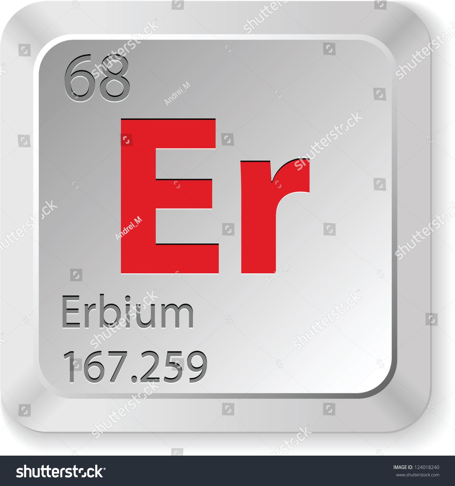 Er element crane humidifier no mist er element periodic table images periodic table images stock vector erbium element 124018240 er element periodic gamestrikefo Image collections