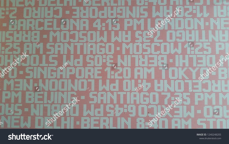 Office floor texture Office Flooring Red Grey Office Floor Texture With City Names And Times Floor Photo Ideas Floor Design Red Grey Office Floor Texture City Stock Photo edit Now 1240248205