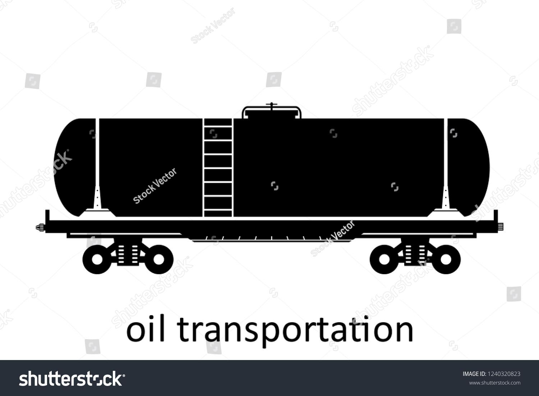 Railway Carriage Oil Transportation Name Cargo Stock Vector (Royalty