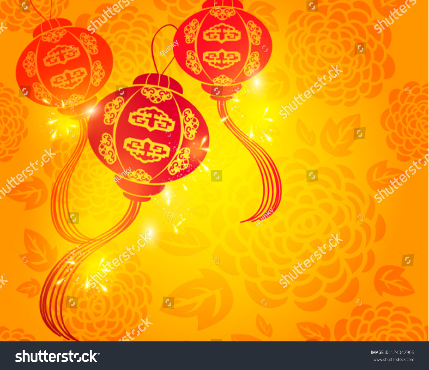 happy chinese new year vector card stock vector 124042906