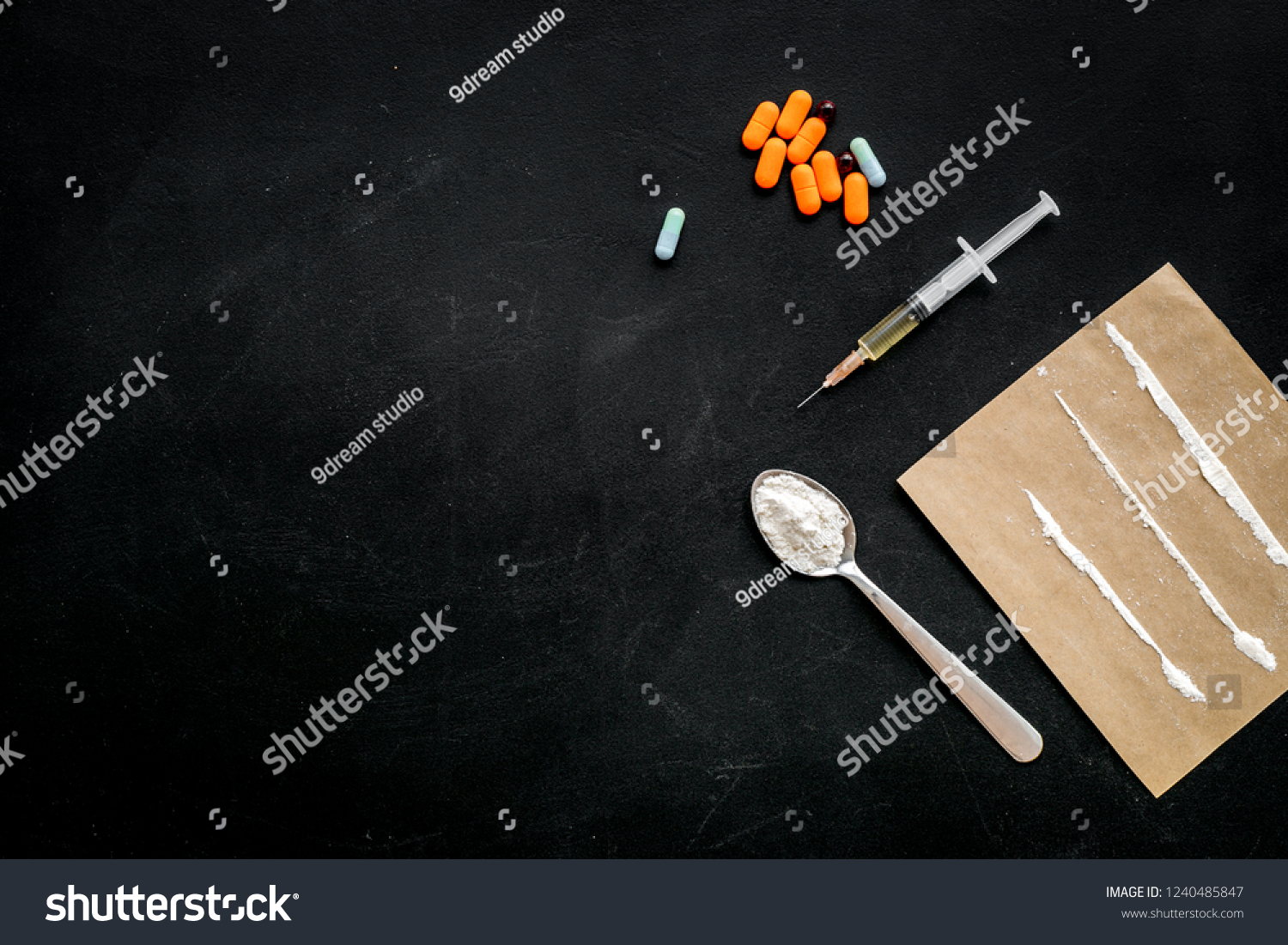 Take Drugs Drugs Addiction Concept White Stock Photo Edit Now