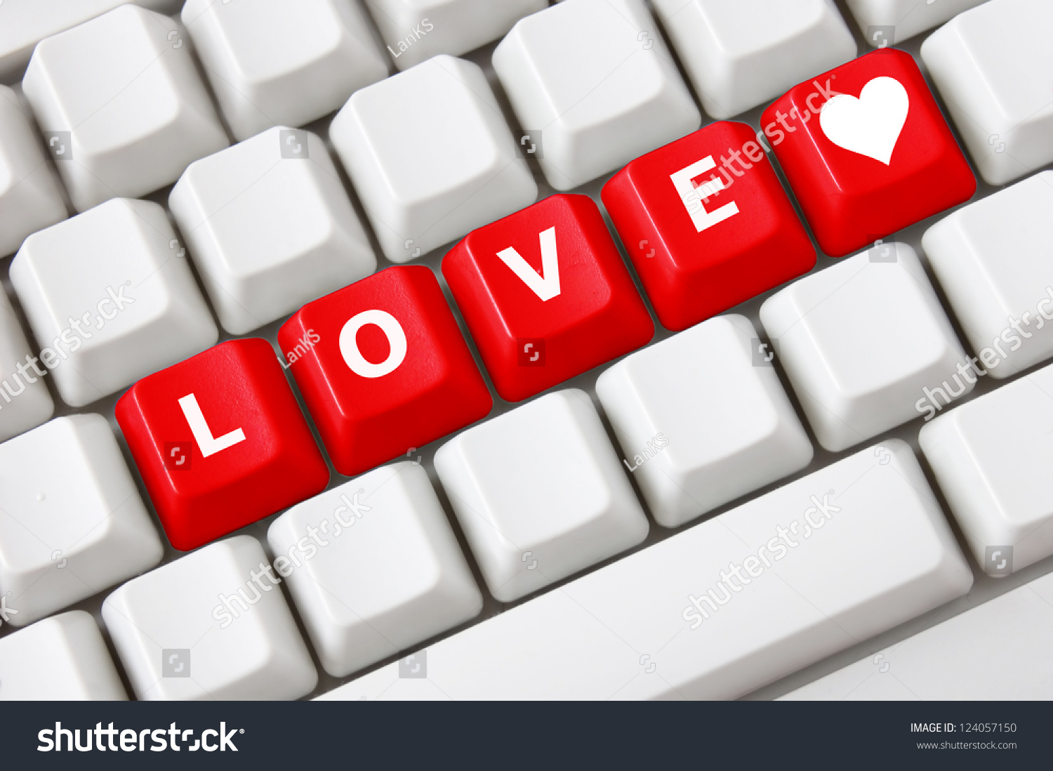 Smart keyboard color button love text stock photo 124057150 smart keyboard with color button love text and heart symbol biocorpaavc Images