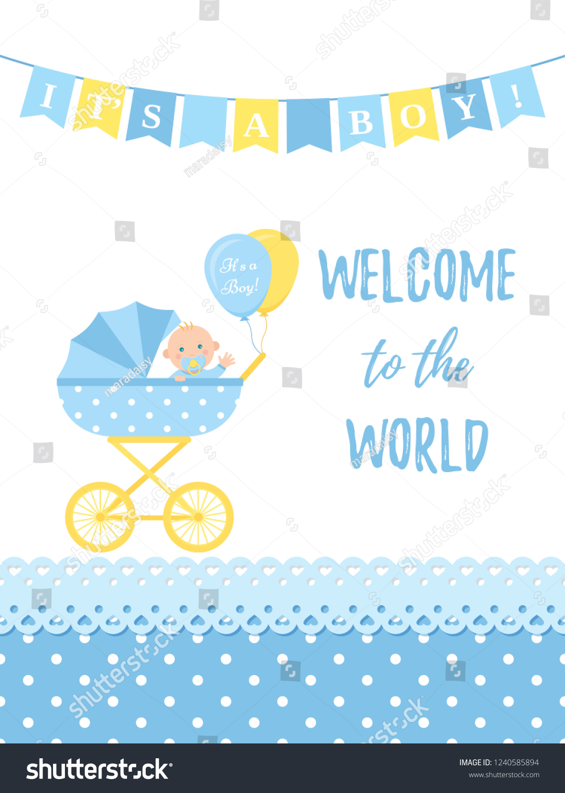 baby shower boy card vector baby stock vector royalty free