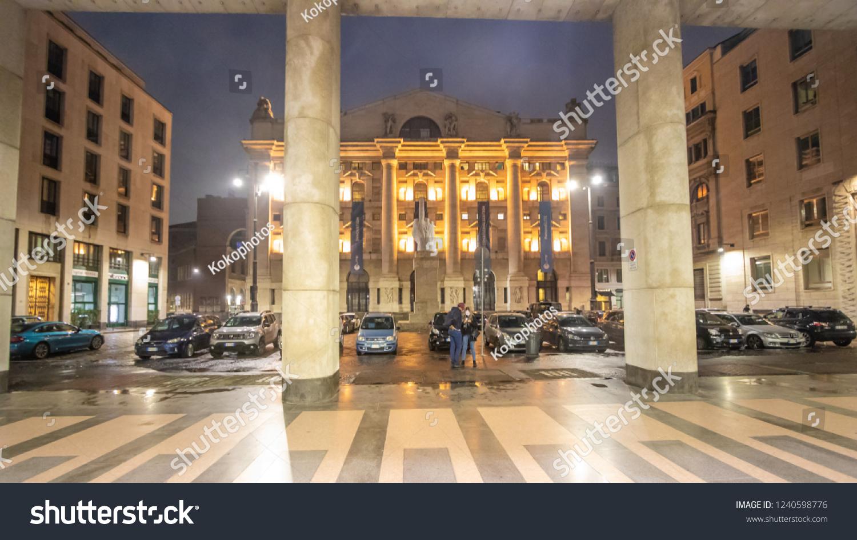 32e5cdd8b2 Milan, November 2018: Italian Stock Exchange (Borsa Italiana) also known as  Piazza