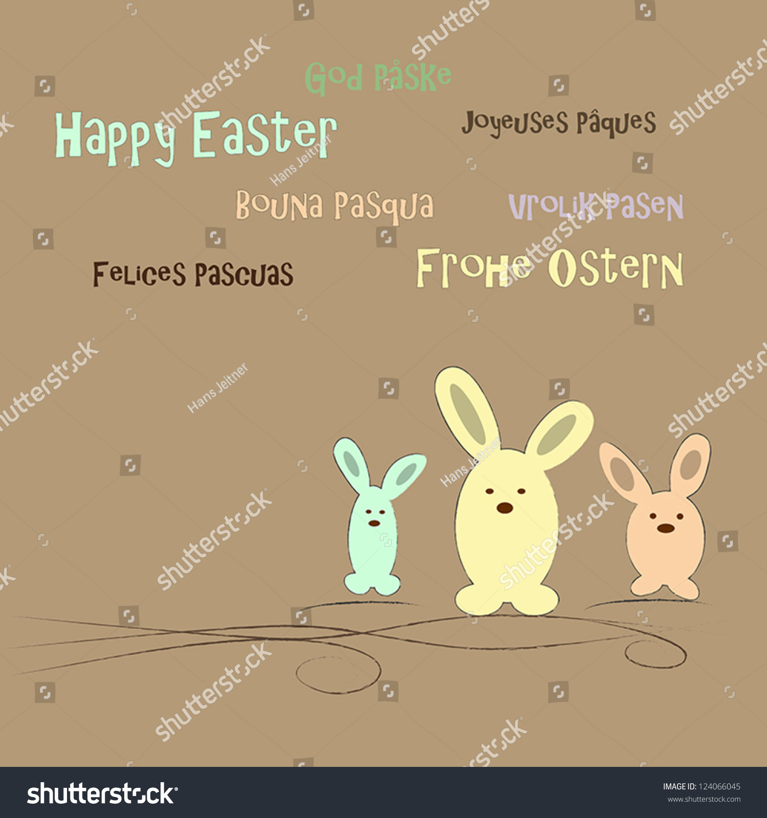 Easter greeting different languages stock vector 124066045 easter greeting in different languages kristyandbryce Gallery