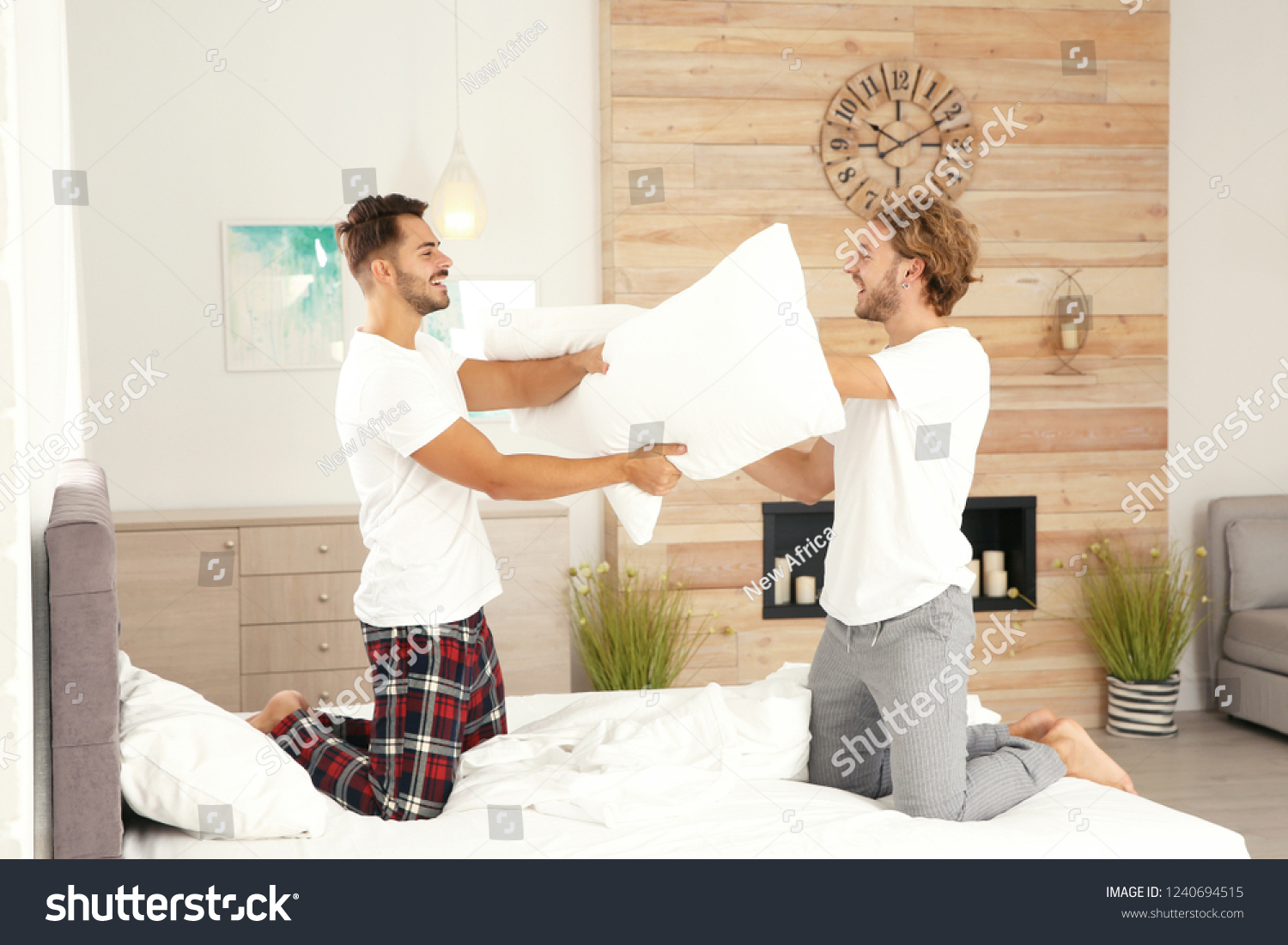 Gay pillow fight