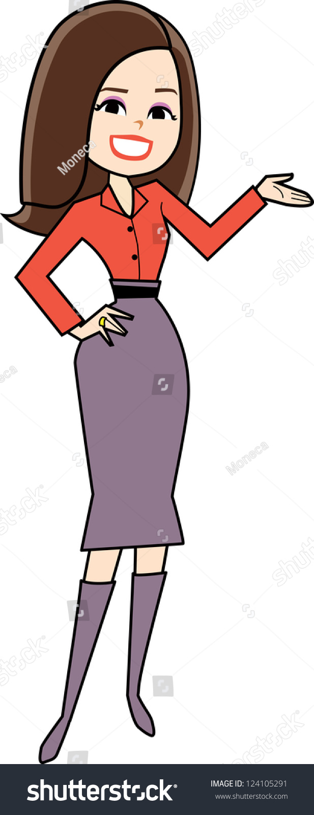cartoon woman clipart retro style drawing stock vector 2018 rh shutterstock com women clipart messages women clipart messages