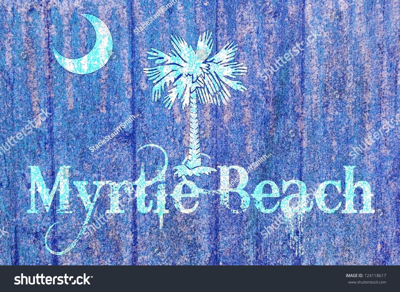 Vintage Wooden South Carolina Flag Concept Stock Illustration ...