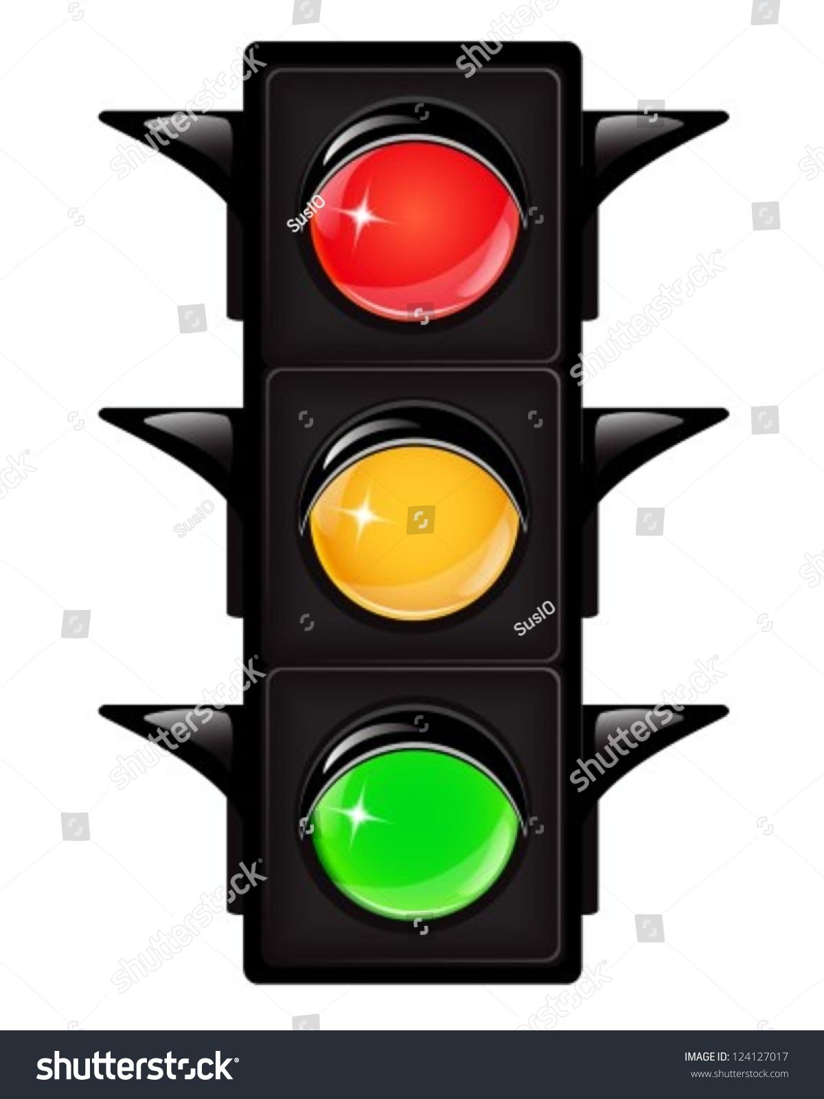 Black Traffic Light Reflections On White Stock Vector 124127017 ... for stop light black and white  111bof